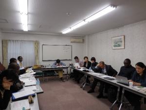 市民ネットワーク for TICAD との前日の準備会議