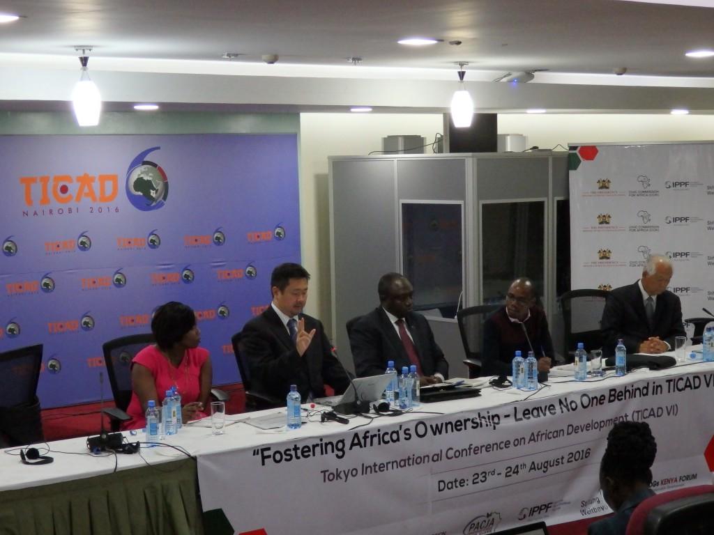アフリカ市民社会サイドイベントの様子