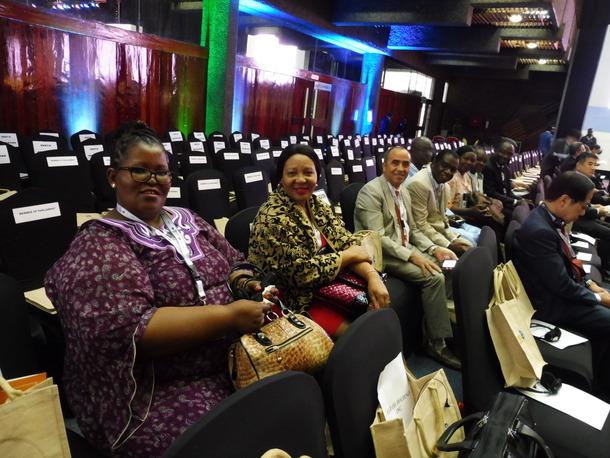 メイン会議に参加した市民社会の代表ら